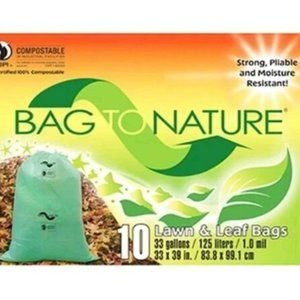 Bag to NATURE 20 Compost Lawn Leaf Trash Bags NEW
